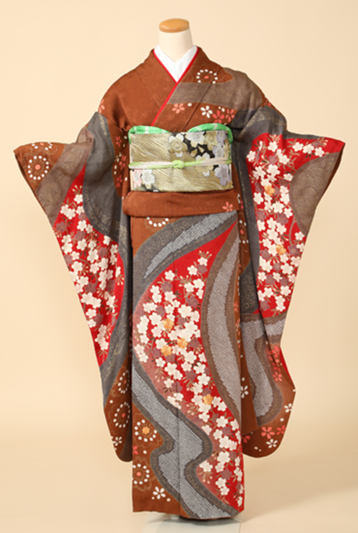 半衿、帯揚げ、帯〆 ビフォアー